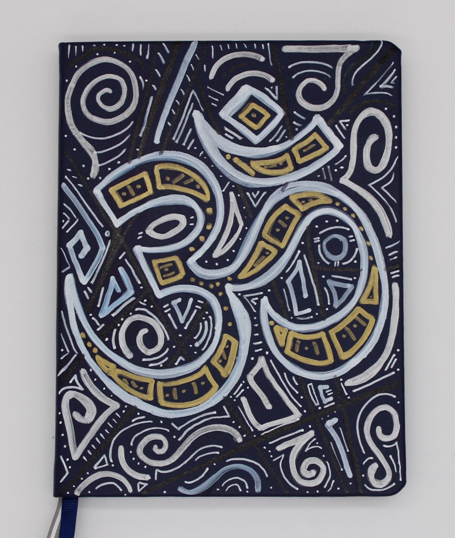 Abstract Om Hardcover Lined Journal