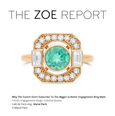Why The French Don't Subscribe To The Bigger-Is-Better Engagement Ring Myth The Zoe Report