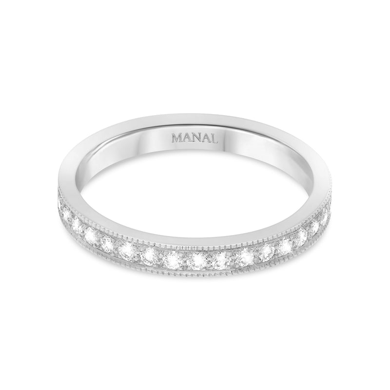alliance femme diamants estela or blanc 18 carats joaillerie écologique manal paris