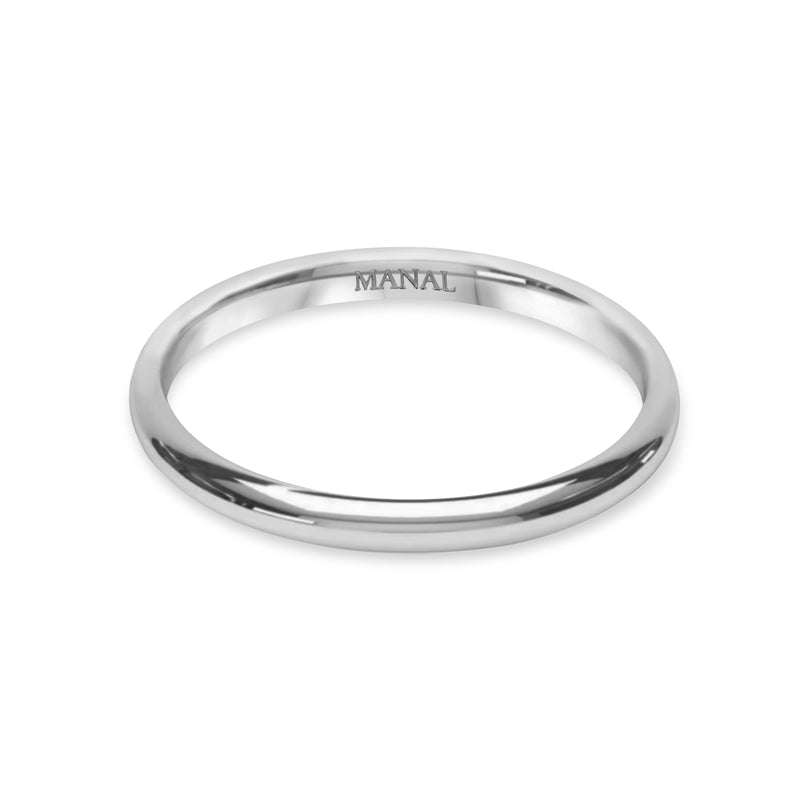 Alliance Homme Montmartre 2mm - Or Blanc 18 Carats