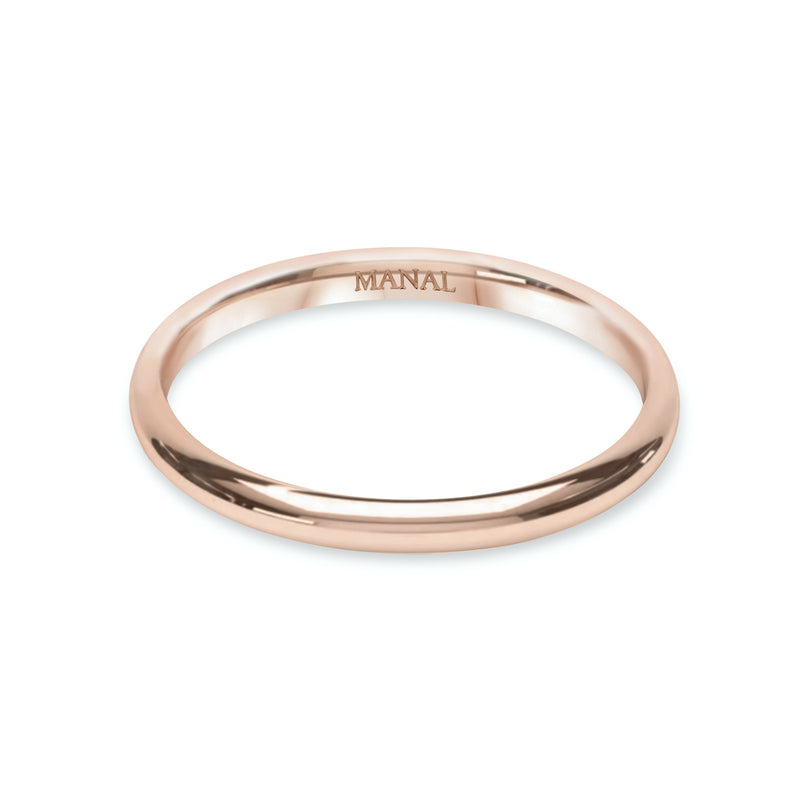 alliance homme fil rond et or rose 18 cts joaillerie manal paris