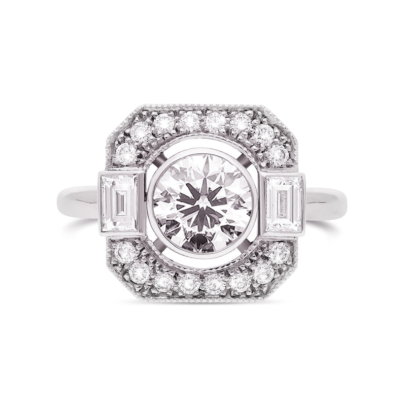 bague art deco or blanc diamants Café de Paris joaillerie Manal Paris