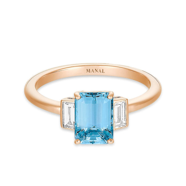 Bague Roma Azzura - MANAL PARIS