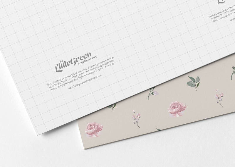 Vintage Florals Recyclable Wrapping Paper & Tags