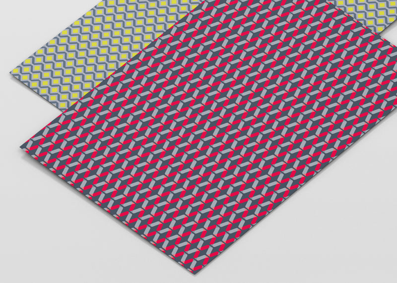 Geometric Acid Patterns Recyclable Wrapping Paper & Tags