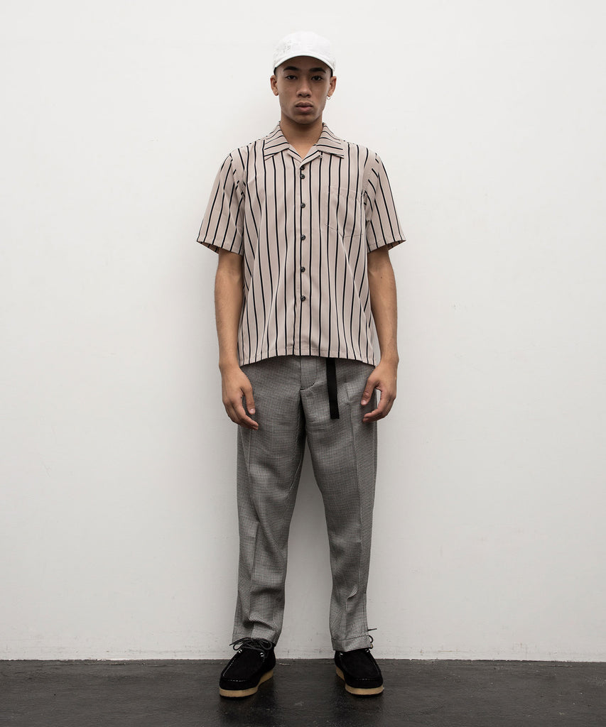 STRIPED SS SHIRT(GRAY) -BAL