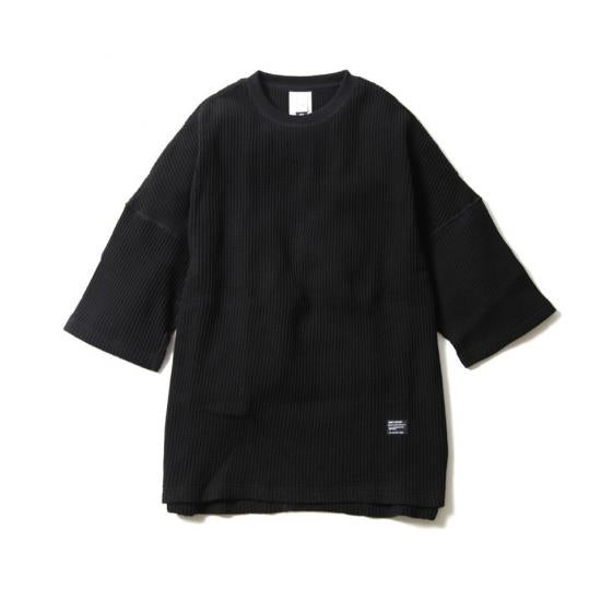 BIG WAFFLE OVER SIZE TEE BY JEMORGAN(BLACK)