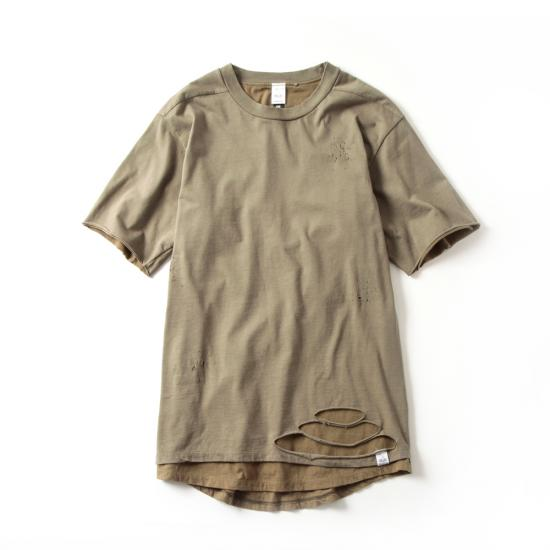 DESTROY LAYERD T(OLIVE×TAN)