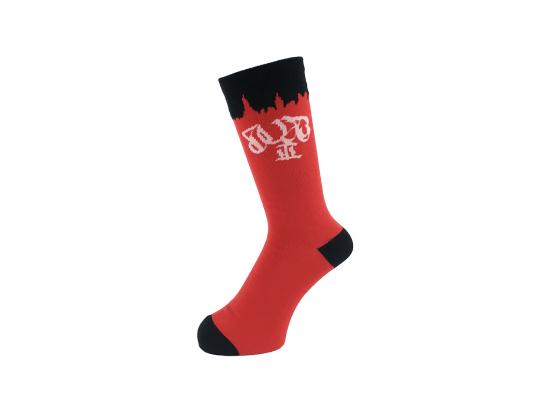 WHIMSY 30/2 RUST SOCKS(RED)
