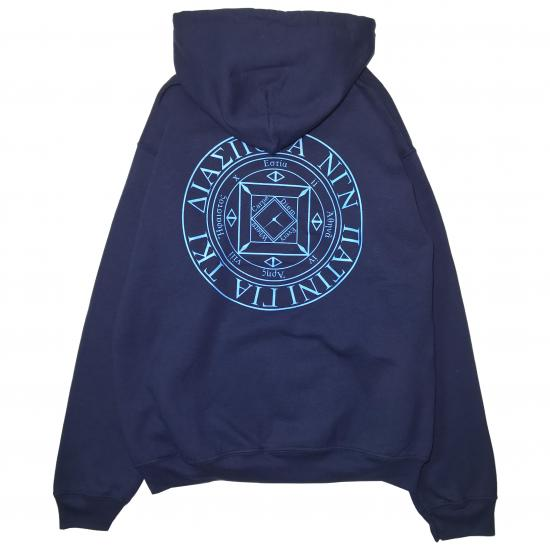 LONG LETTER MAGIC CIRCLE HOODIE (NAVY)