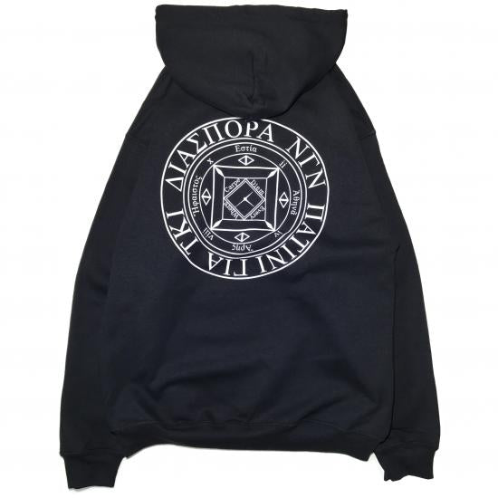 LONG LETTER MAGIC CIRCLE HOODIE (BLACK)