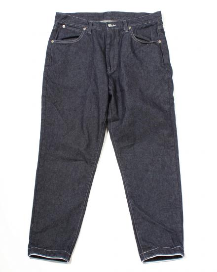 TAPERED DENIM PANTS(INDIGO)