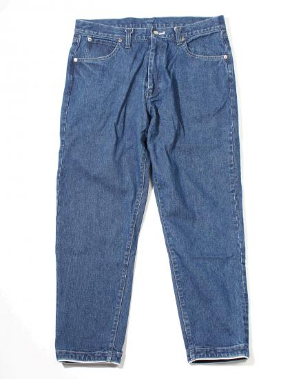 TAPERED DENIM PANTS(WASHED INDIGO)