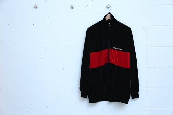 VELOR JACKET(BLACK/RED)