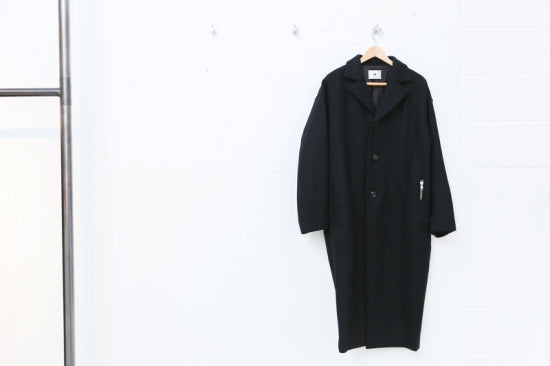 Wool 3B Tall Coat(BLACK)
