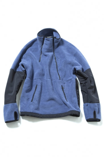 CLASSIC DOUBLE FRONT OPEN PULLOVER(BLUE)