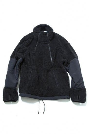 CLASSIC DOUBLE FRONT OPEN PULLOVER(BLACK)