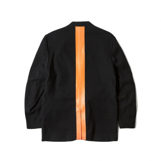 LINED 2B JKT (BLACK × ORANGE)