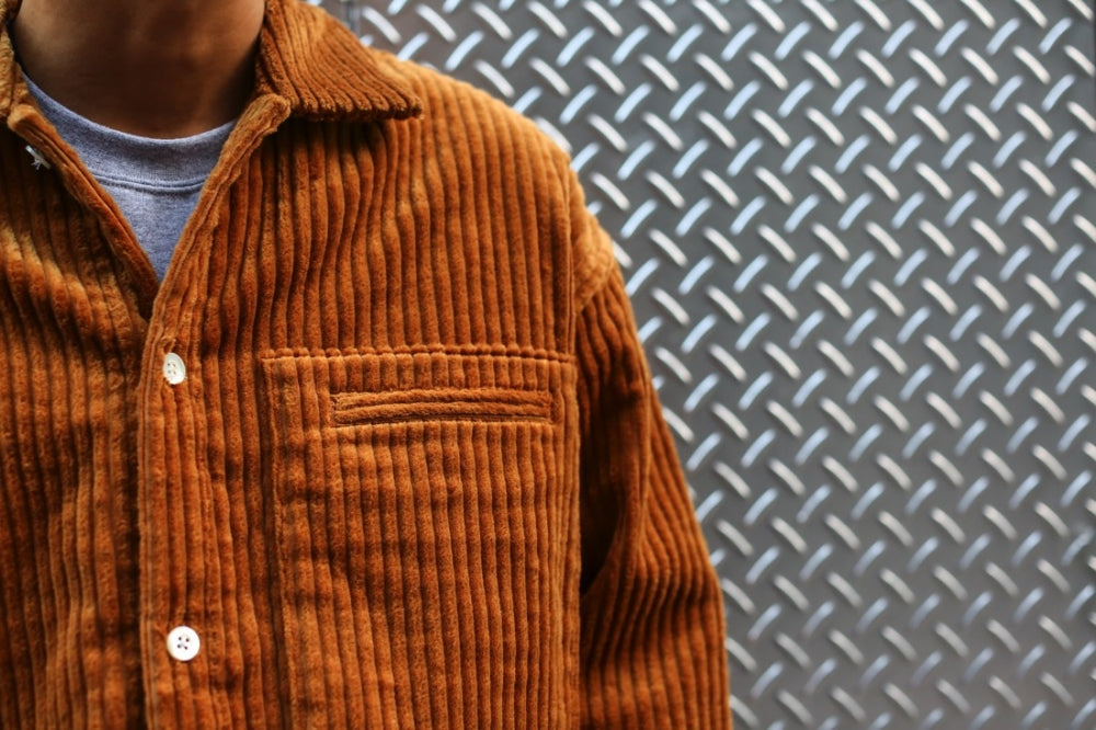 CORDUROY SHIRT JACKET(BROWN) -SOE