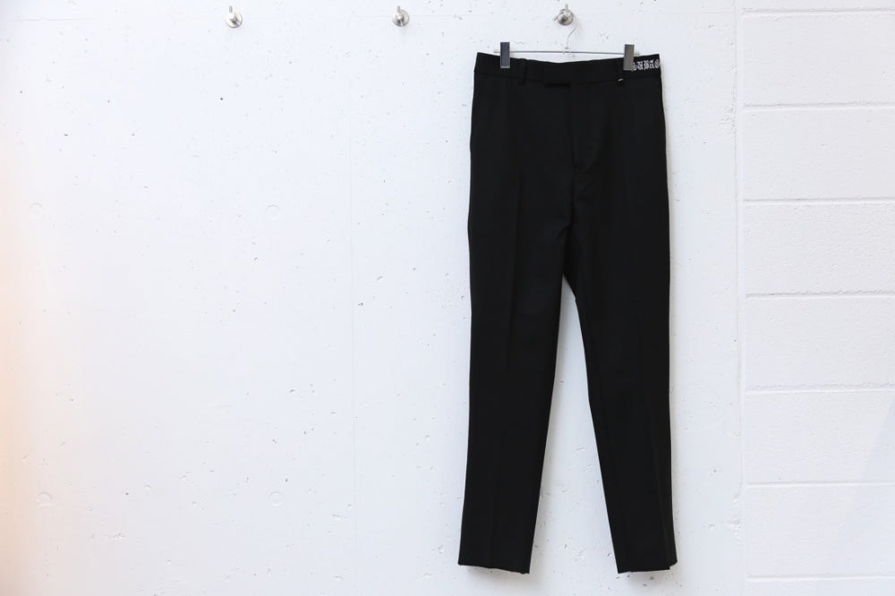 COLOR SLACKS(BLACK)