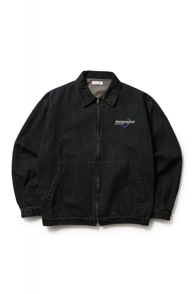 SOLUTIONS DENIM JACKET(BLACK)