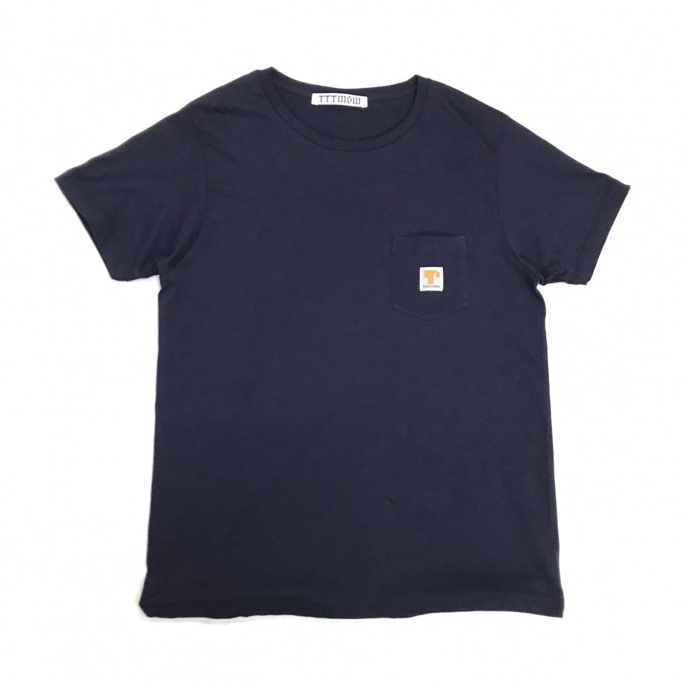 LOGO POCKET TEE(NAVY)