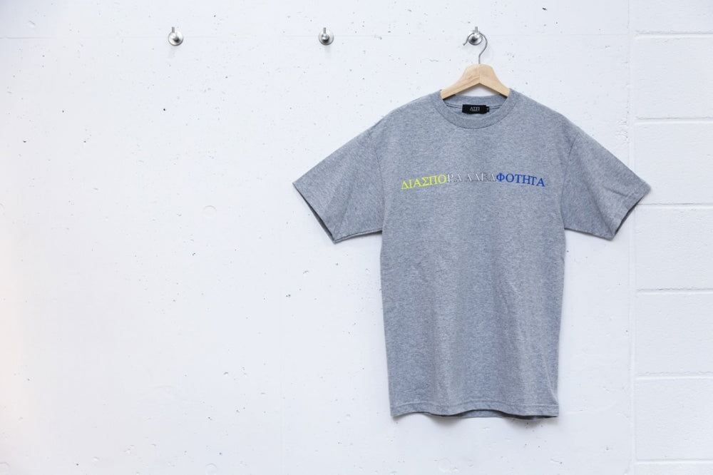 TRI STRIPE MAGIC CIRCLE TEE (SPORT GREY)