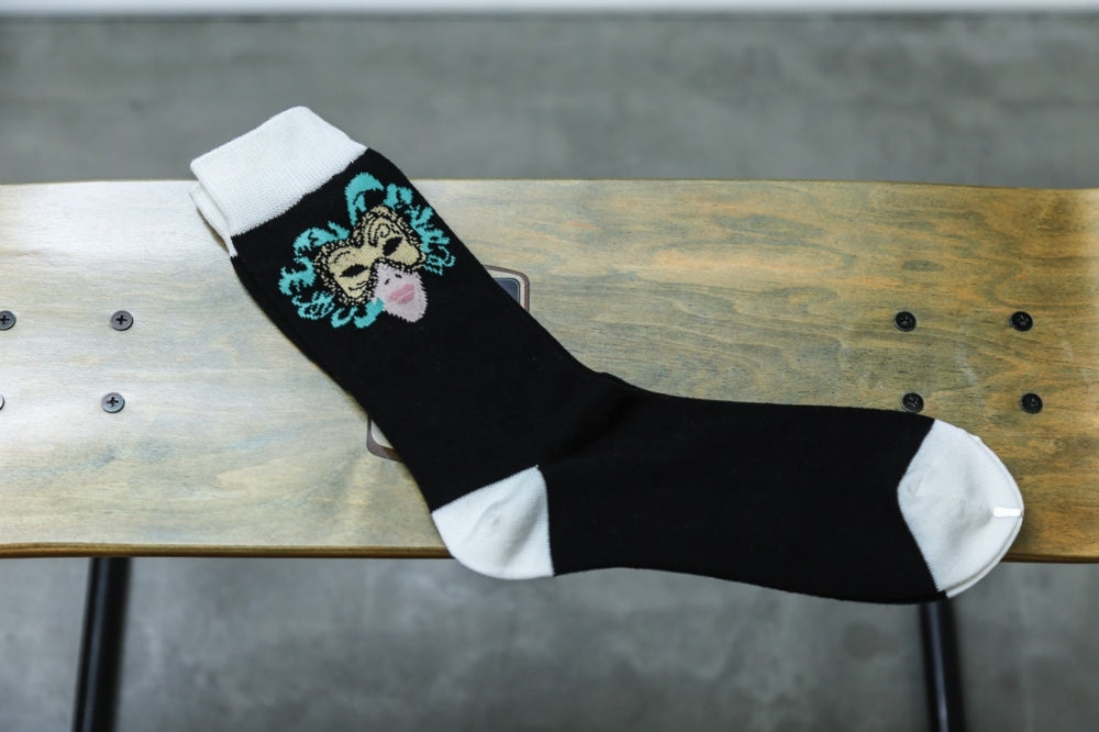 WHIMSY 32/1 MASK SOCKS(BLACK)