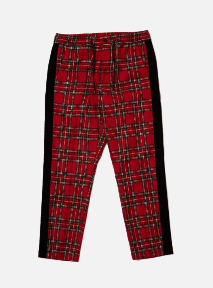 WOOL PLAID TAPED PANT(RED)