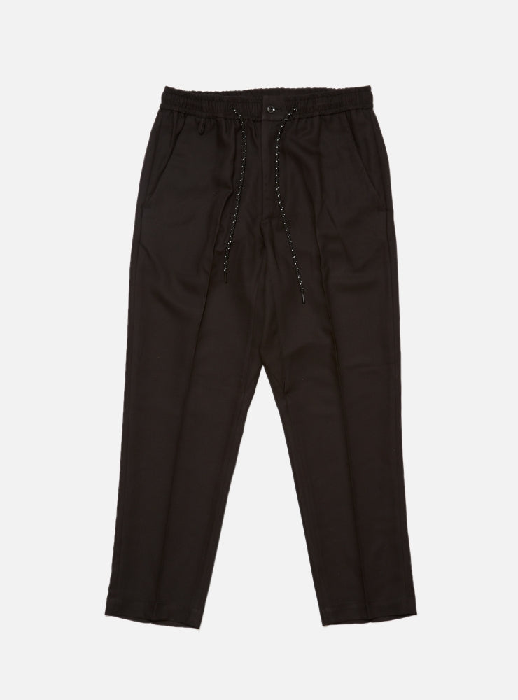 ELASTIC WAIST POLY RAYON TROUSER(BLACK)