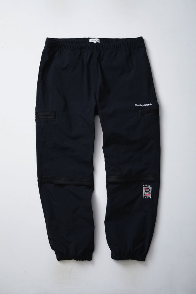 NYLON TRACK PANTS(BLACK)