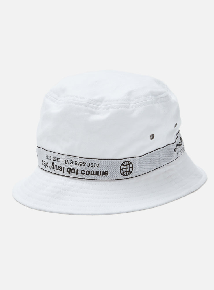 TAPING BUCKET HAT(WHITE)