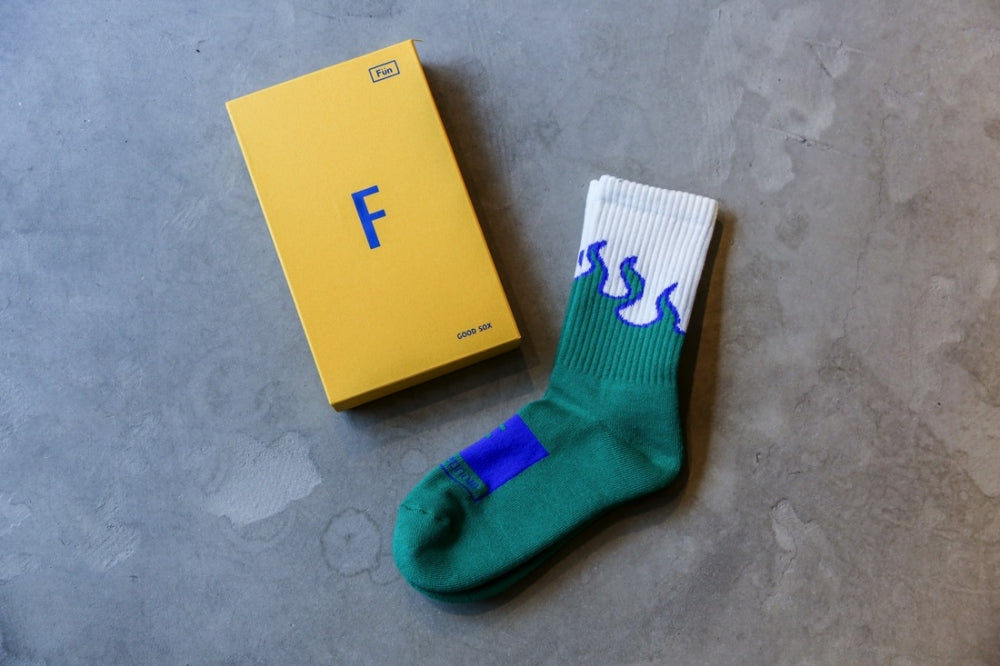 "FUN x Still420now ""Flame Sox""(GREEN)"