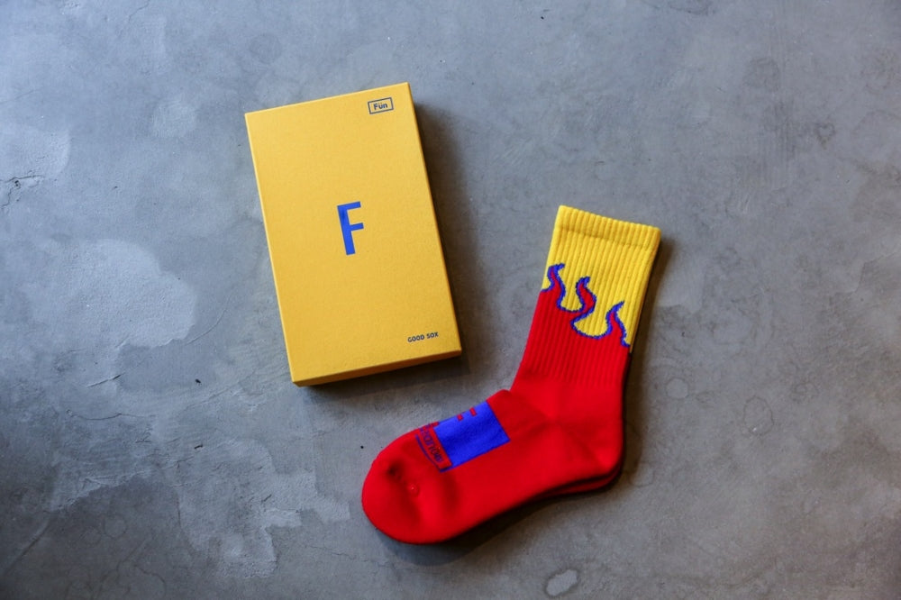 "FUN x Still420now ""Flame Sox""(RED)"