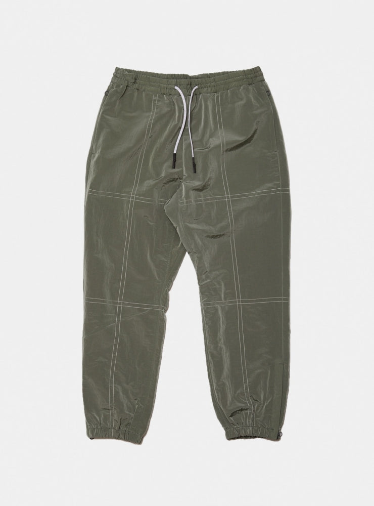 STITCHED NYLON TRACK PANT(GRAY)