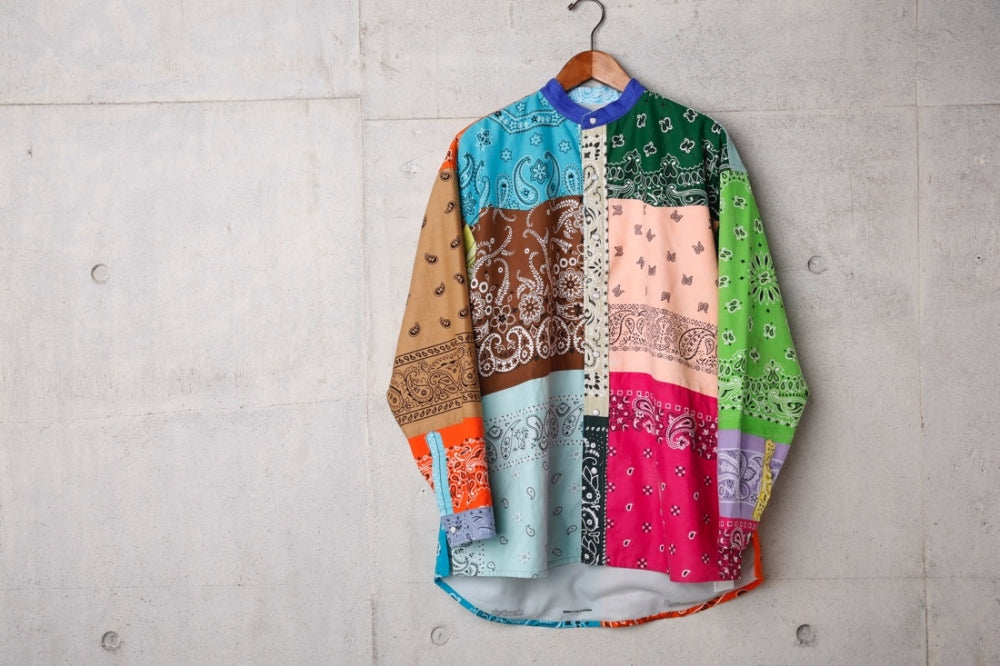 VINTAGE BANDANA PATCHWORK SHIRT(MIX-1)