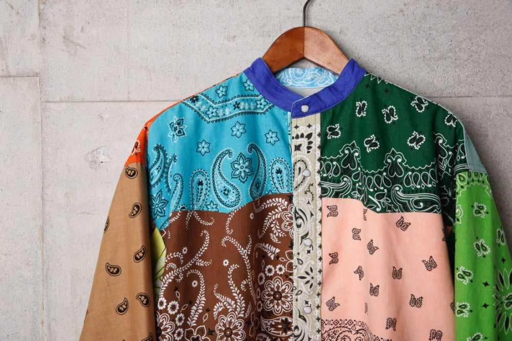 VINTAGE BANDANA PATCHWORK SHIRT(MIX-1) -CHILDREN OF THE DISCORDANCE