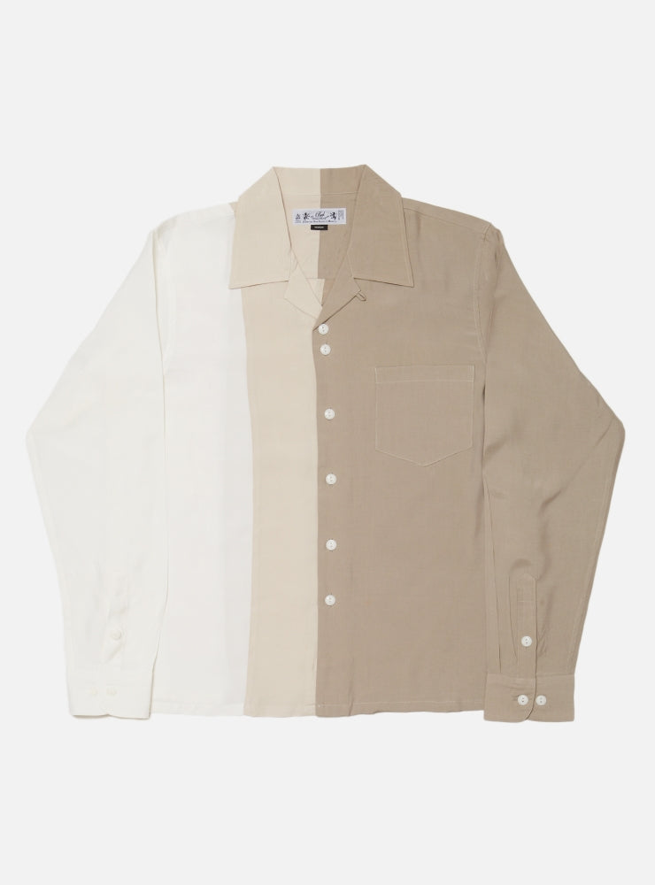 COLOR BLOCK RAYLON SHIRT(SOLID)