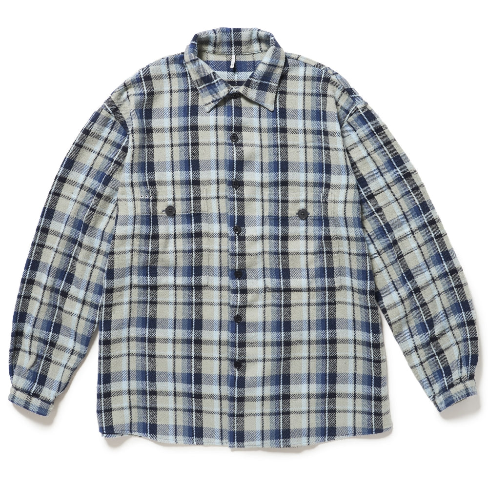 Old fart Check SHIRTS(BLUE CHECK)