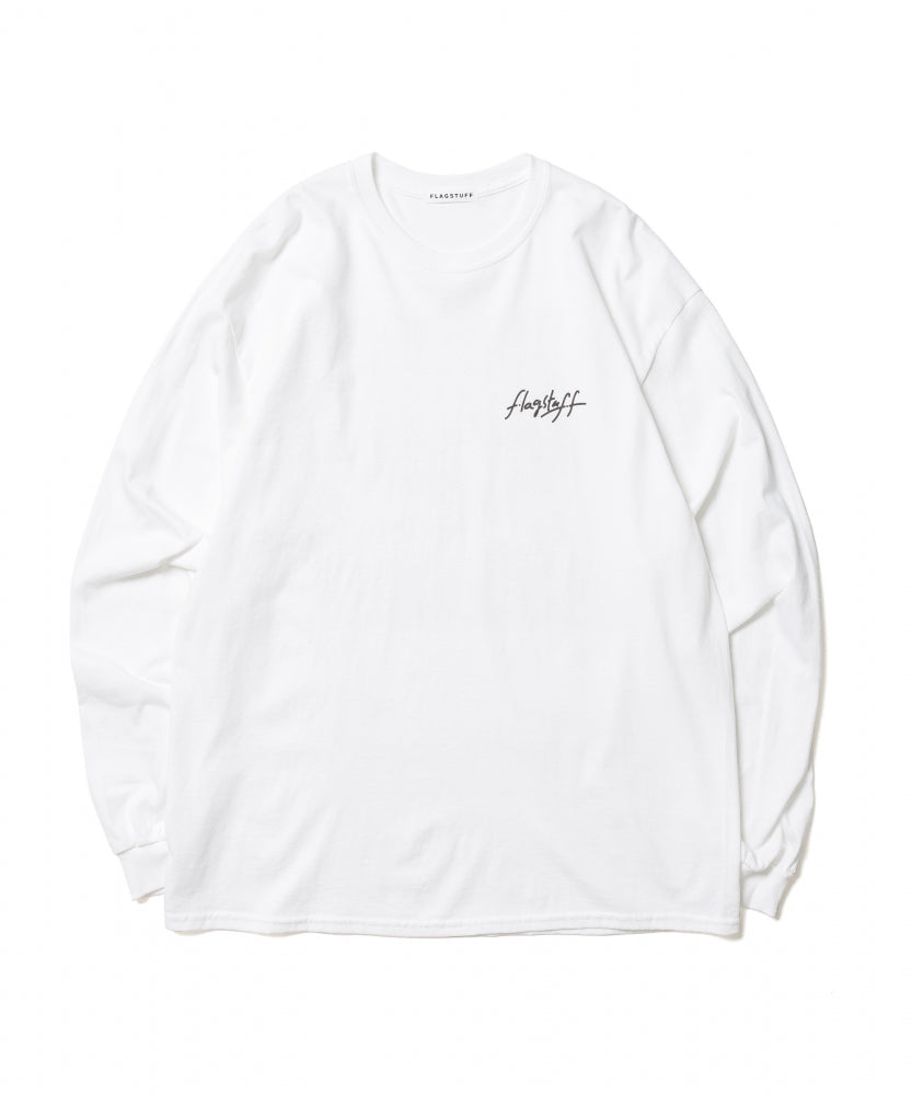 """WELCOME"" L/S TEE(WHITE) -BLACK EYE PATCH"