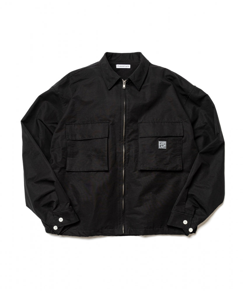 """ICE LOGO"" F/Z JKT(BLACK) -FLAGSTUFF"