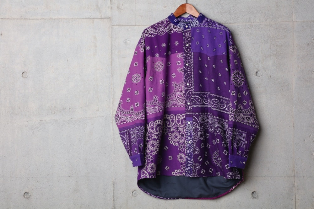 VINTAGE BANDANA PATCHWORK SHIRT LS(PURPLE) -CHILDREN OF THE DISCORDANCE