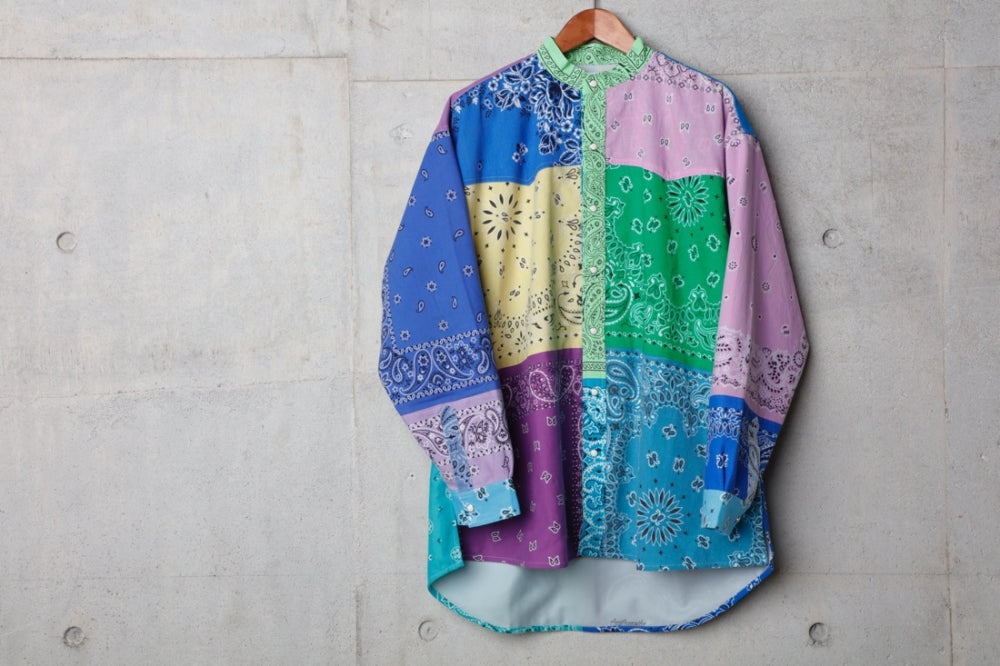 VINTAGE BANDANA PATCHWORK SHIRT LS(Mix) -CHILDREN OF THE DISCORDANCE