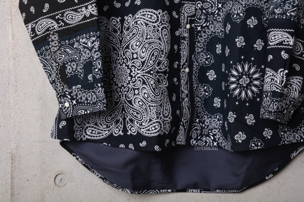 VINTAGE BANDANA PATCHWORK SHIRT LS(BLACK) -CHILDREN OF THE DISCORDANCE