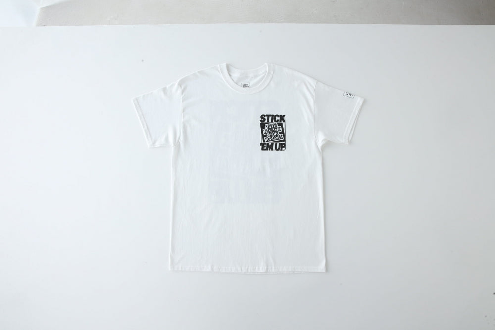 AEVIL_LABELS_TEE by BEP(WHITE) -LOOSE JOINTS