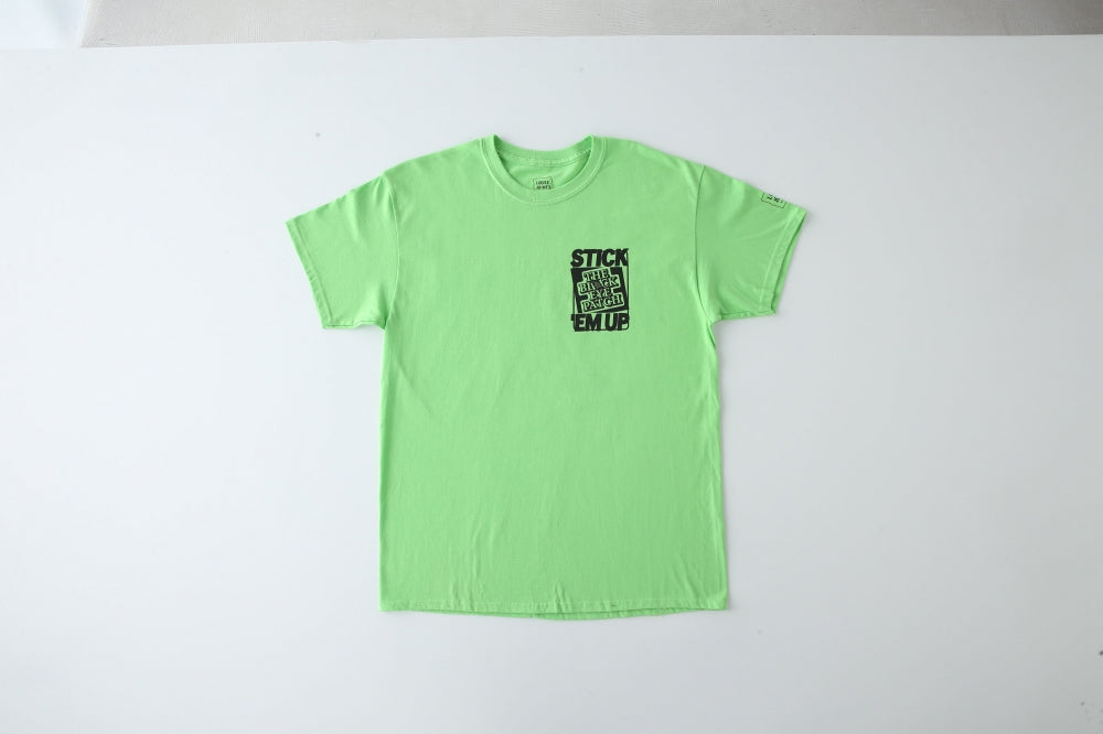 AEVIL_LABELS_TEE by BEP(GREEN) -LOOSE JOINTS