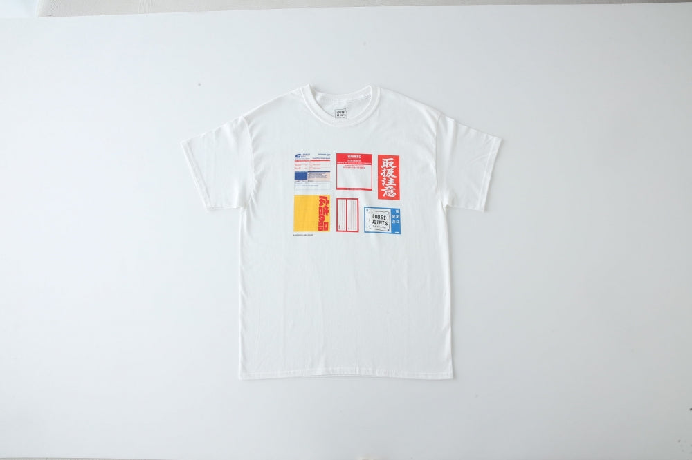 LABEL_ARCHIVES_TEE by BEP(WHITE) -LOOSE JOINTS