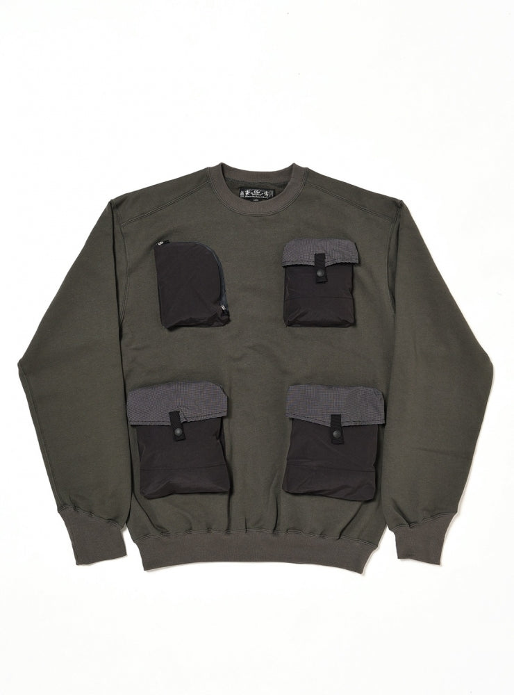 UTILTY CREW SWEAT SHIRT(CHARCOAL) -BAL