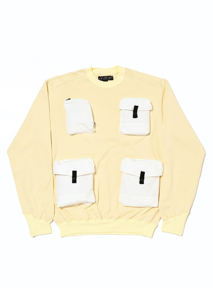 UTILTY CREW SWEAT SHIRT(WHITE) -BAL
