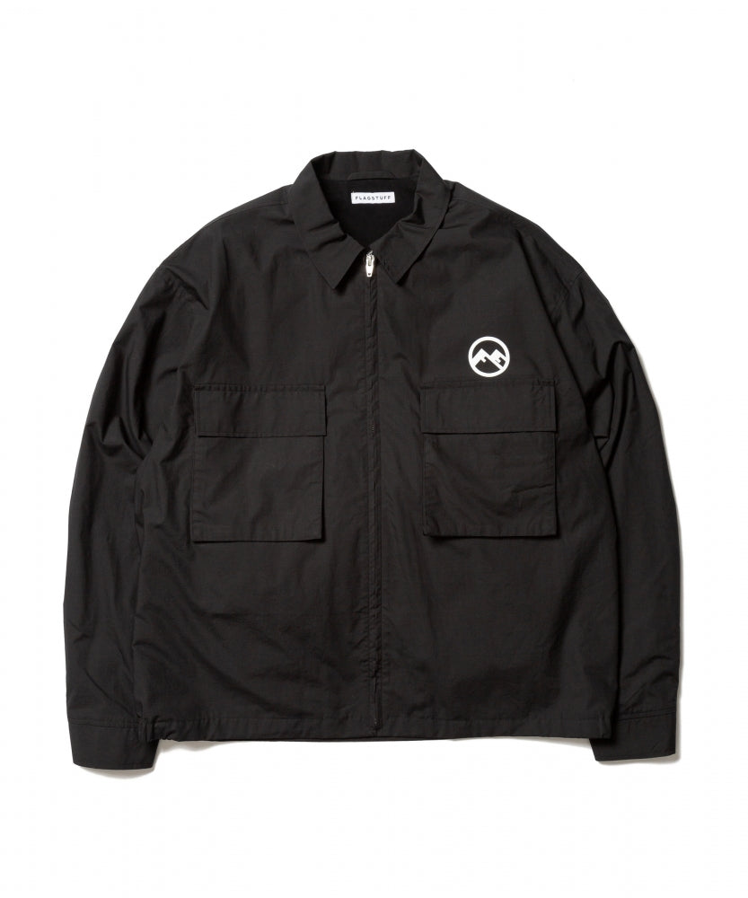 """Welcome"" F/Z JKT(BLACK)-FLAGSTUFF"